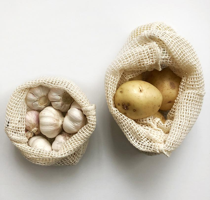 Organic Cotton String Bags - Set of 2 (Sml & Lrg)
