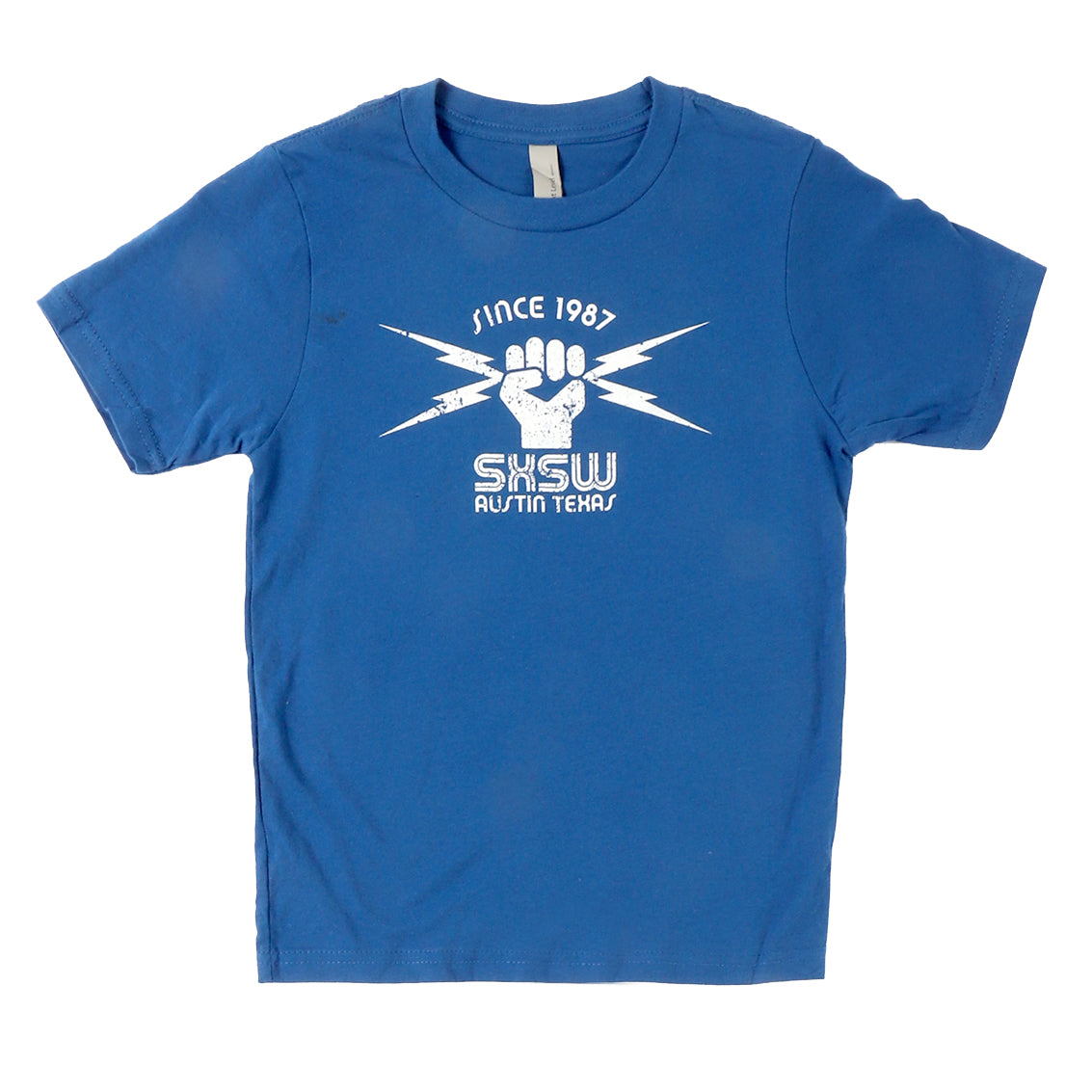 KIDS LIGHTNING FIST TEE IN ROYAL