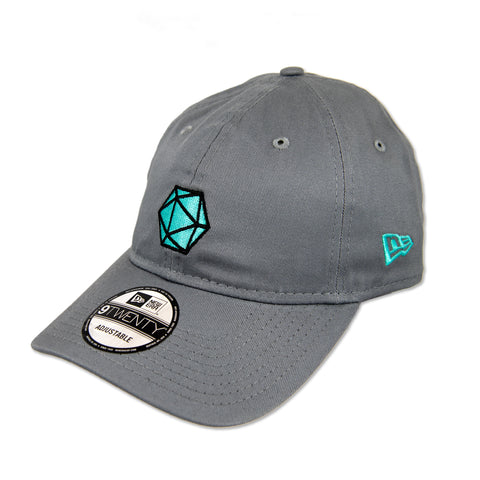 GAMING 20-SIDED DICE DAD HAT IN GRAY BY NEW ERA