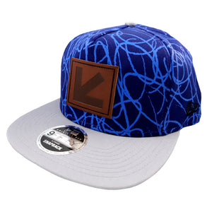 BLUE SCRIBBLE FLAT BILL CAP BY NEW ERA