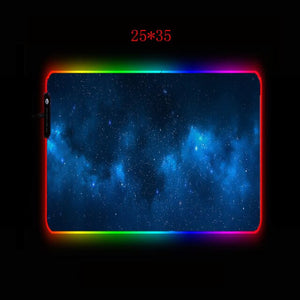 "RGB Gaming Mousepad ""Blauer Nachthimmel"""