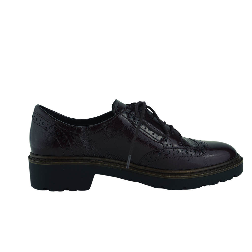Ara 16502 Black Bordo Patent Brogues