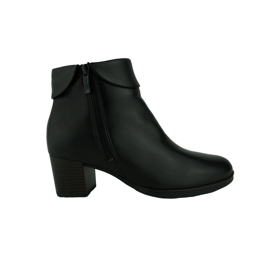 Ara 16913 Black Leather Ankle Boots