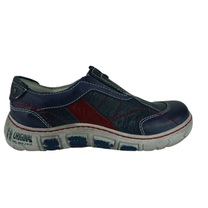 Kacper 21186 Blue Leather Leisure Shoes