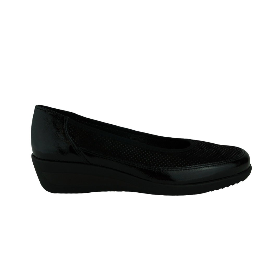 Ara 40617 Black Leather Work Shoes
