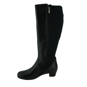 Ara 63655 Black Leather XXL Calf Long Boots