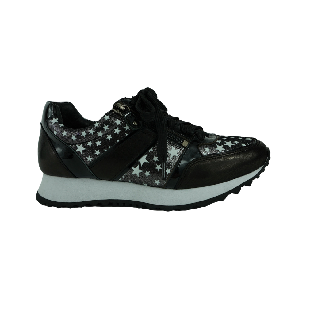 Audrey Avenue Deanna Black Snake Star Sneakers