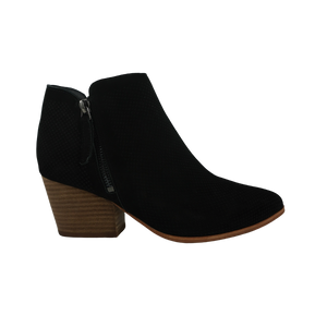 Audrey Avenue Dulce Taupe Black Nubuck Black Leather Ankle Boots