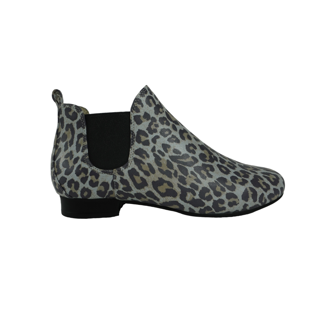 Audrey Avenue Elaina Snake Leopard Leather Ankle Boots
