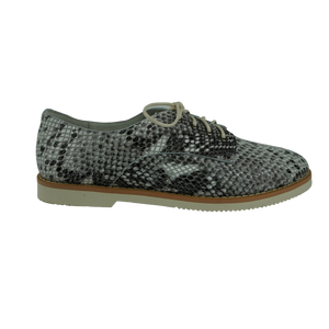 Audrey Avenue Hope Black Star Snake Taupe Leather Brogues