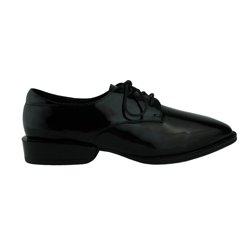 Django & Juliette Baraka Black Patent Leather Brogues