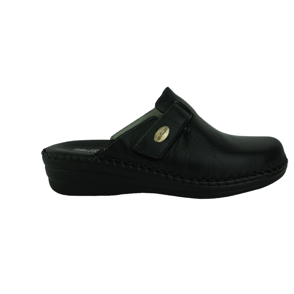 Florance C23010 Black Leather Slippers