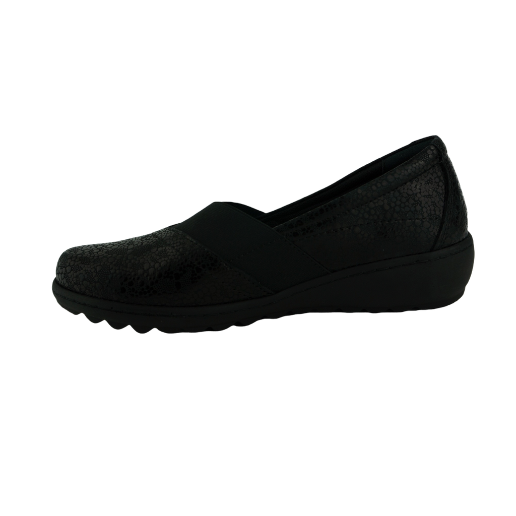 Cabello CP153-15 Black Leather Comfort Work Shoes