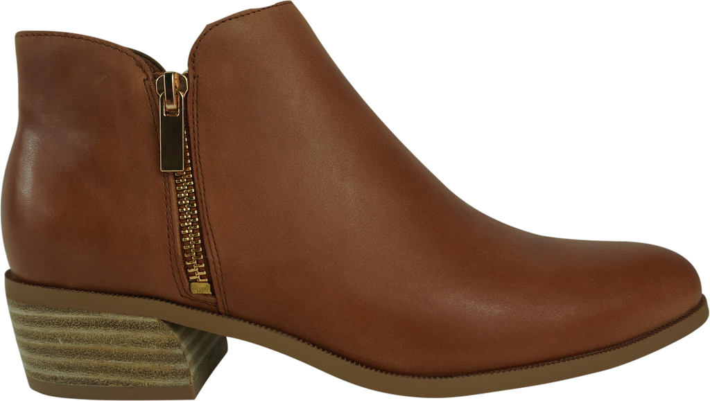 Django & Juliette Choppie Black Cognac Leather Ankle Boots