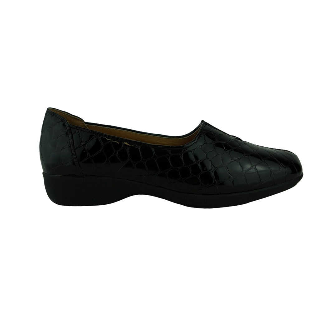 Easy Living Diana Black Navy Black Croc Comfort Work Shoes