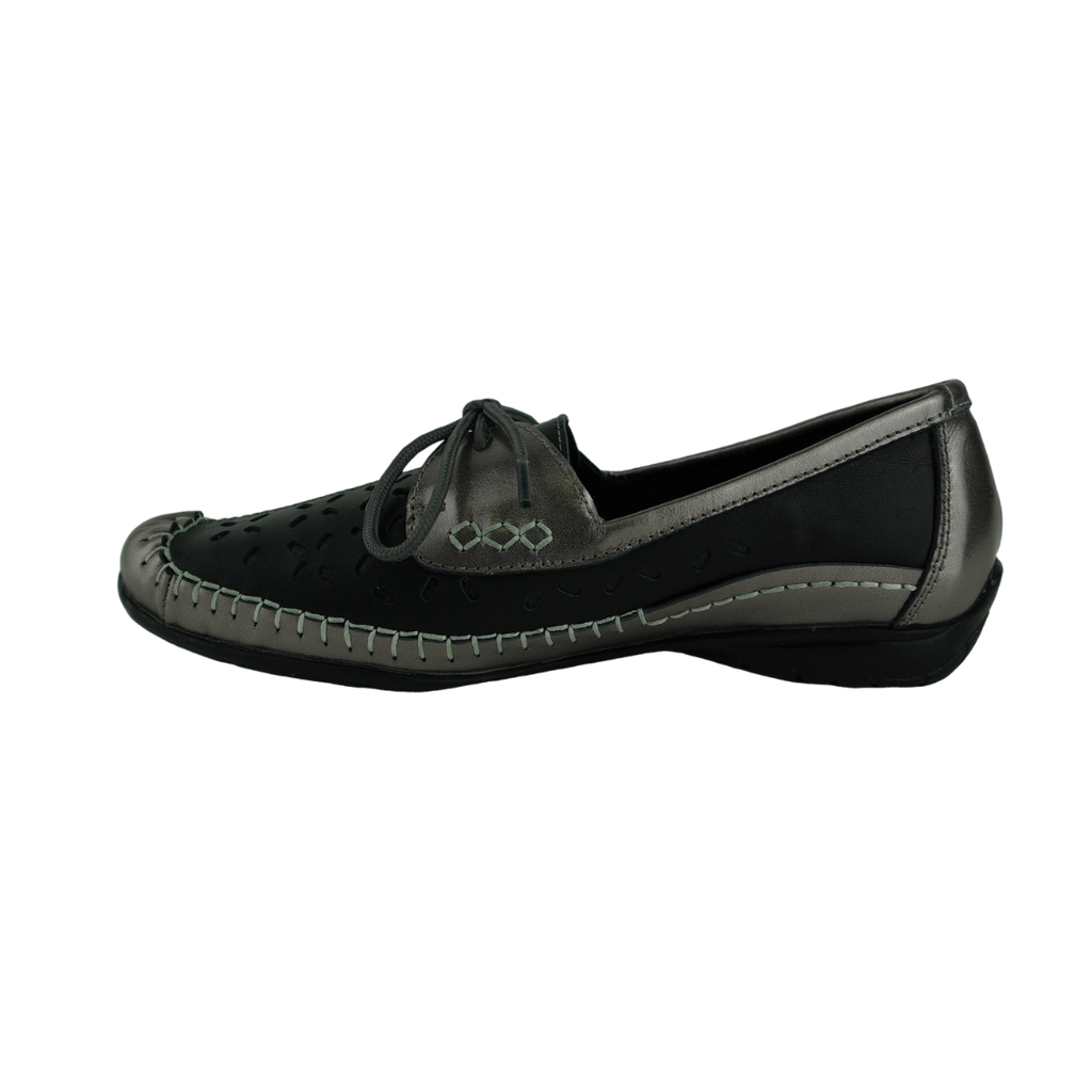 Easy Living Olive Black Pewter Moccasin