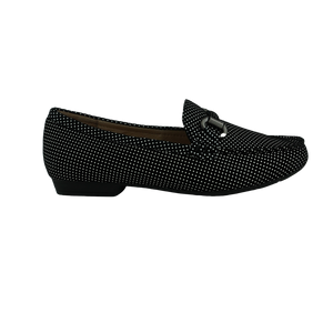 Easy Living Racey20 Black Tan Navy Spots Moccasin