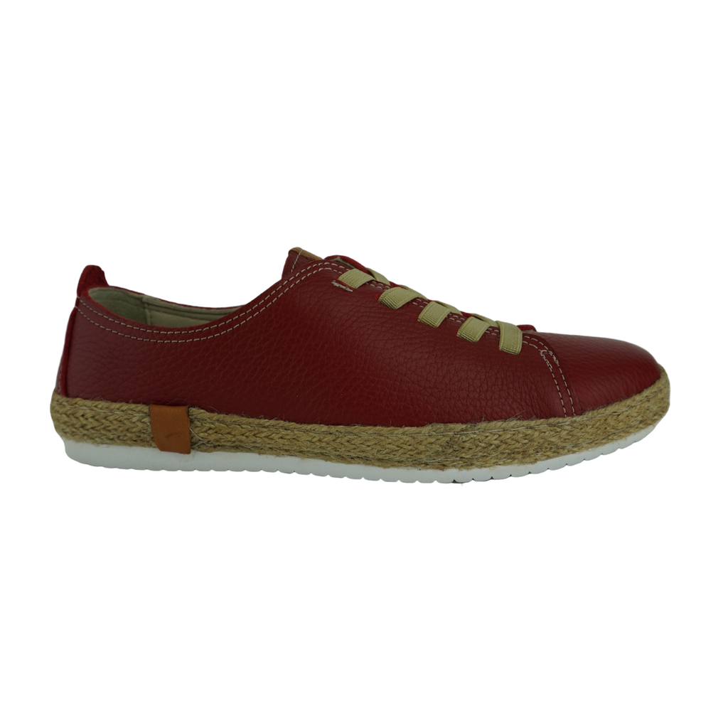 Cabello Flash Navy Red Leather Sneakers
