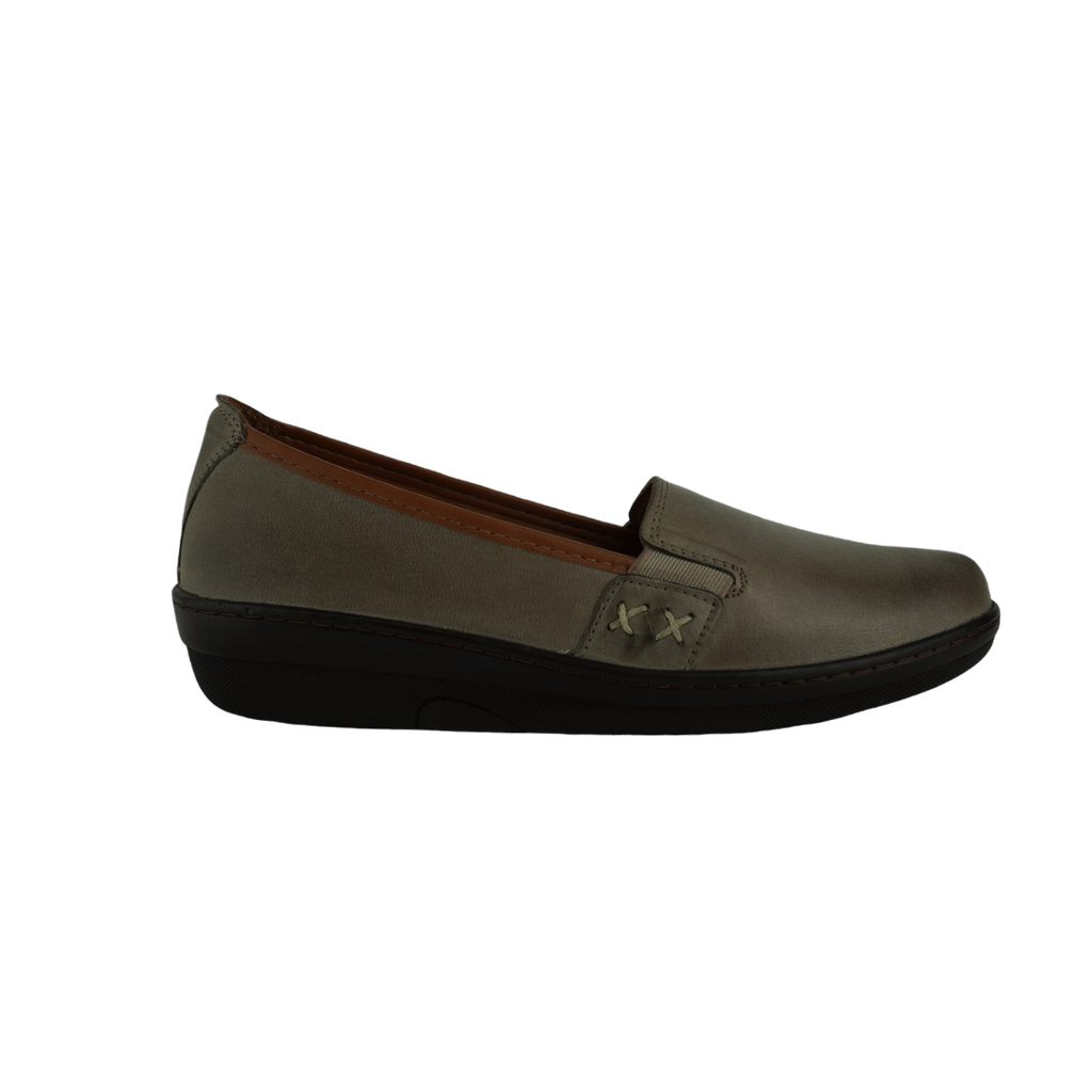Cabello Karen Black Tan Taupe Leather Moccasin