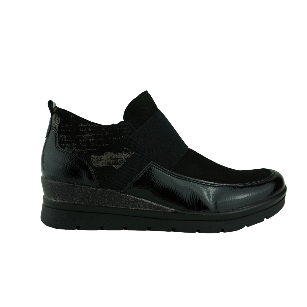 Rieker R0771 Black Leather Sneaker