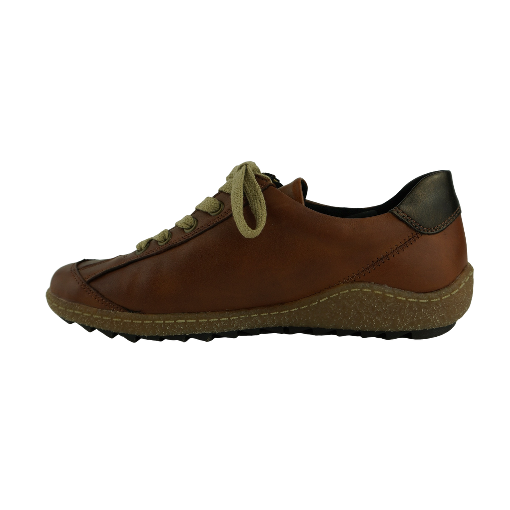 Rieker R4702 Tan Leather Sneakers