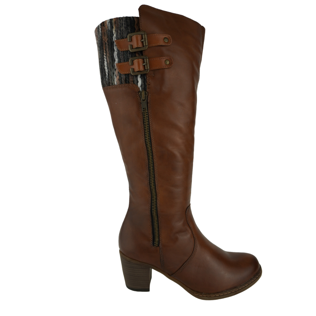 Rieker R4671 Tan Leather Long Boots