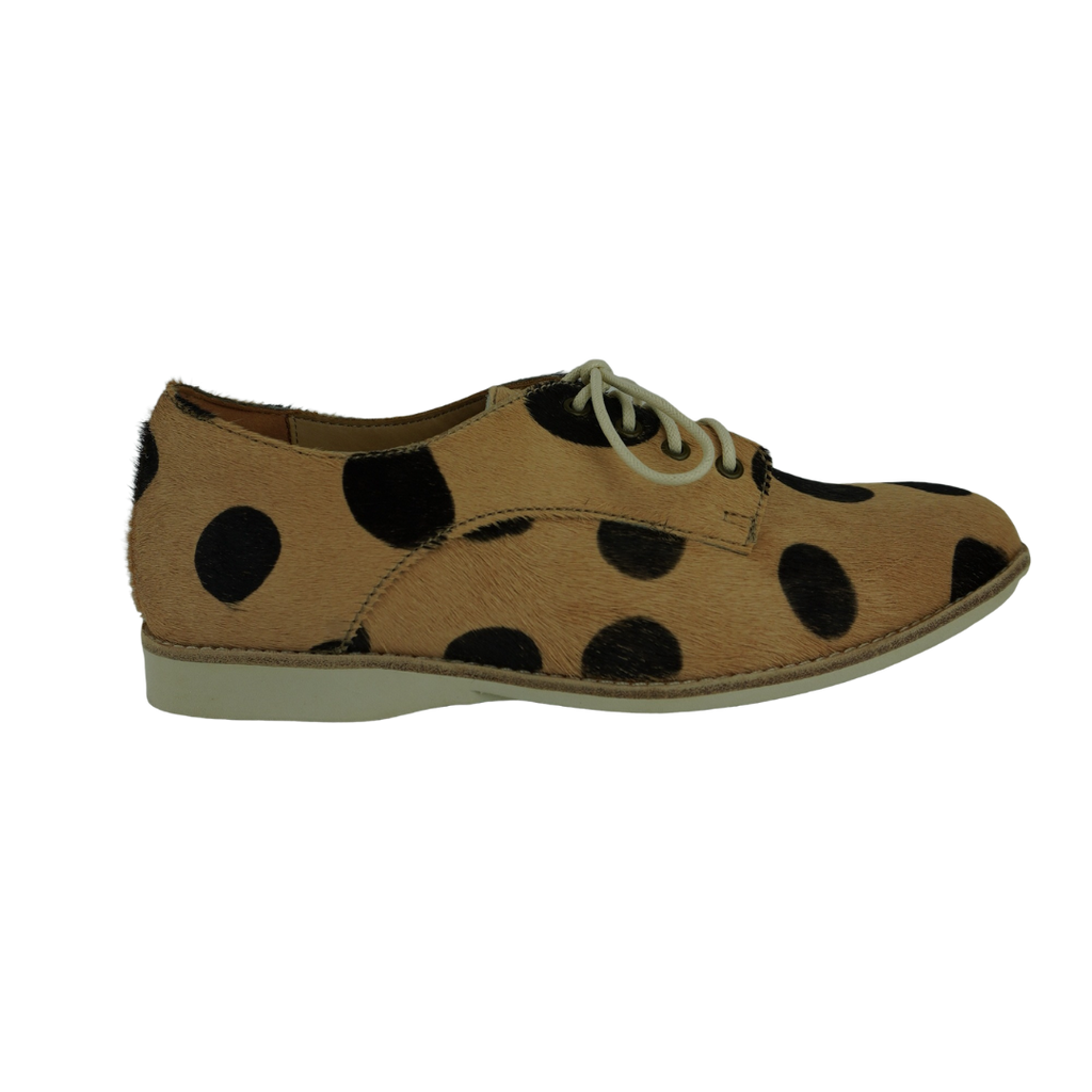 Rollie Derby2 Geo Black Beige Spots Cowhide Leisure Shoes