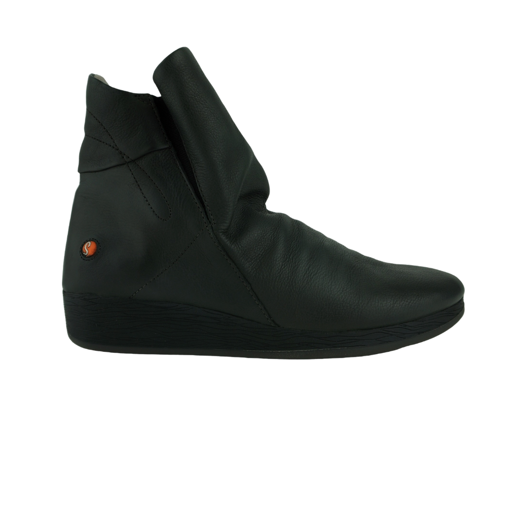Softinos Asti Black Grey Ankle Boots