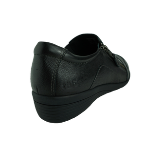 Taos Character Black Leather Leisure Shoes