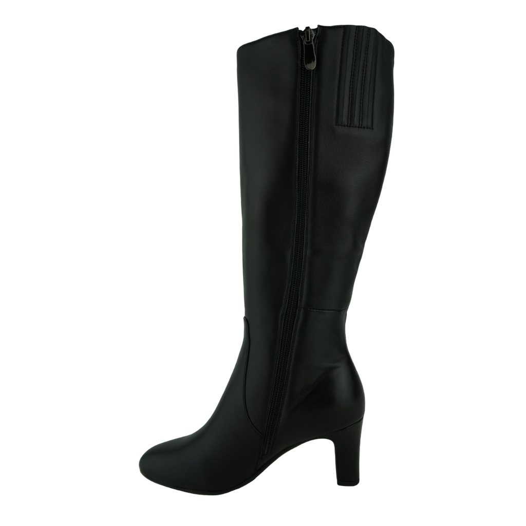 Django & Juliette Teddie Black Leather Long Boots