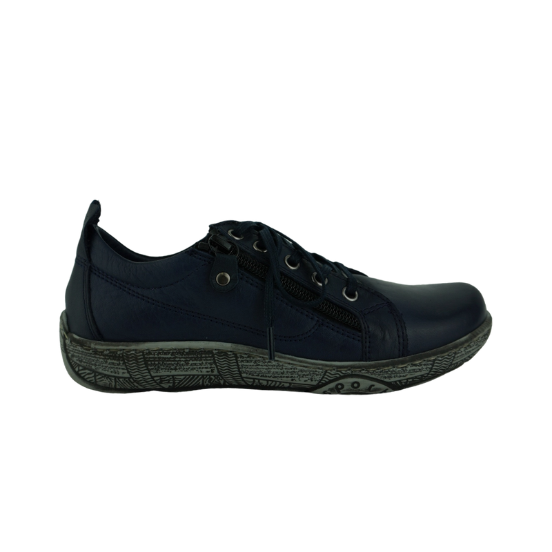 Thyme Tussock Black Navy Leather Sneakers