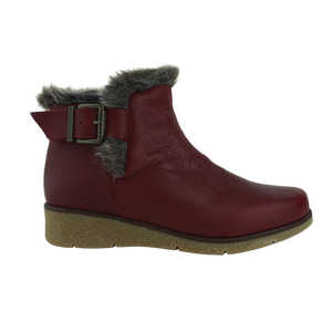 Saimon Valencia Red Tan Leather Ankle Boots