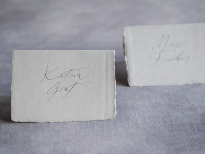 Small format, great possibilities - handmade paper place cards