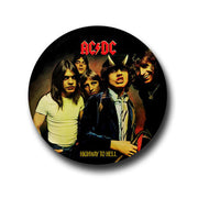 ACDC HIGHWAY TO HELL ROCK BAND TSHIRT AND BADGE PINS INDIA
