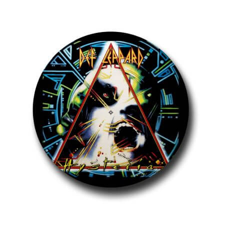 Def leppard button badge
