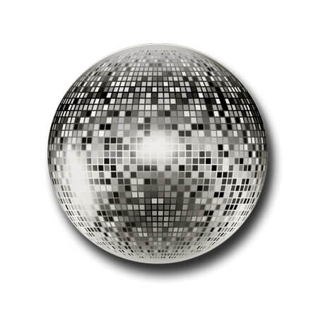 Disco Ball  Badge Pin