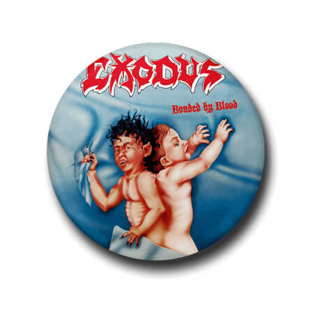 EXODUS  BONDED BY BLOOD BADGEPIN