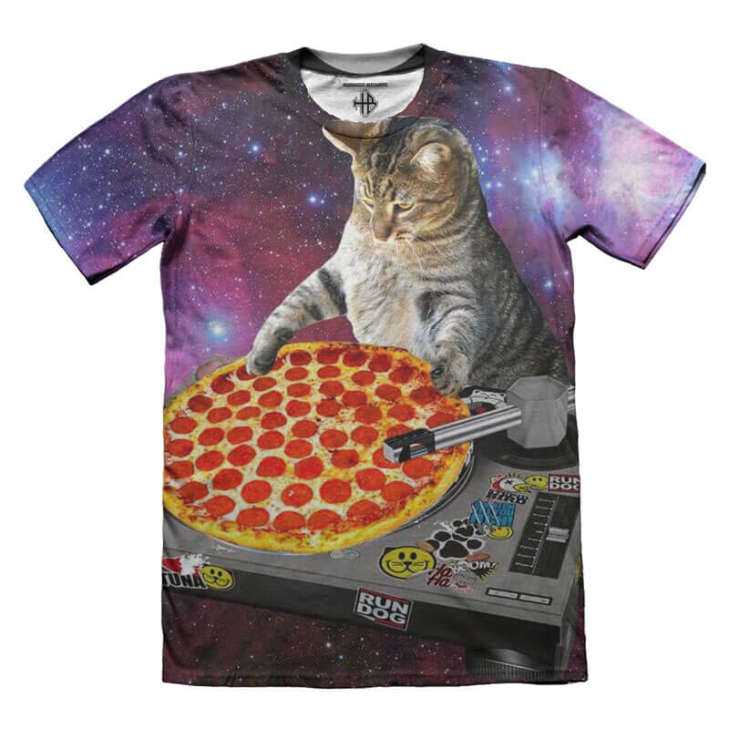 Galaxy Cat tshirt all-over print