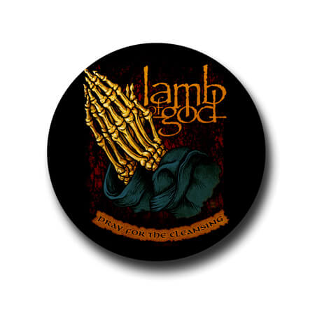 Lamb of god Praying Hands Badge pin