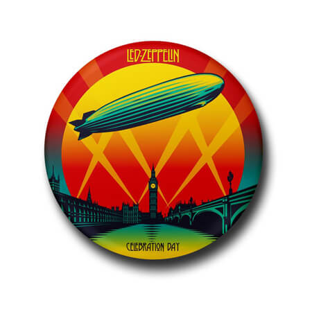 Led Zeppelin Button Badge