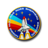 Nasa Rocket Button Badge