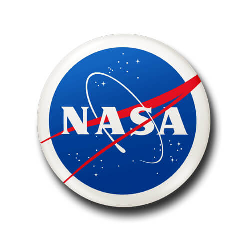 Nasa Button Badge + Fridge Magnet