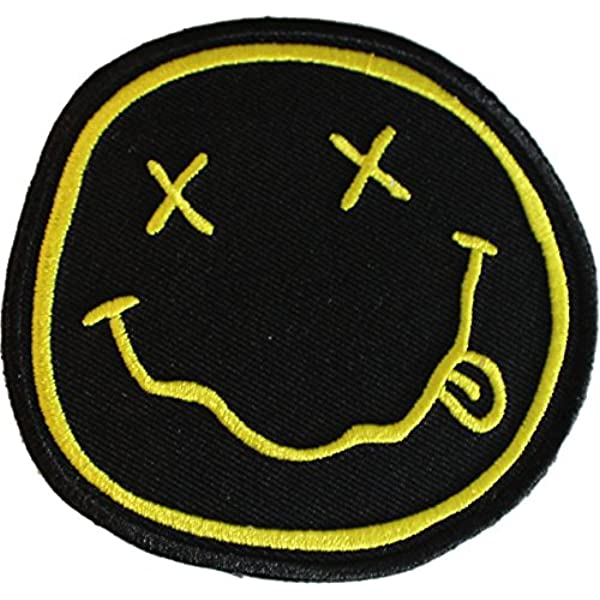 Nirvana Smiley Embroidered Patch