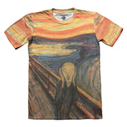 The scream painting tshirt front