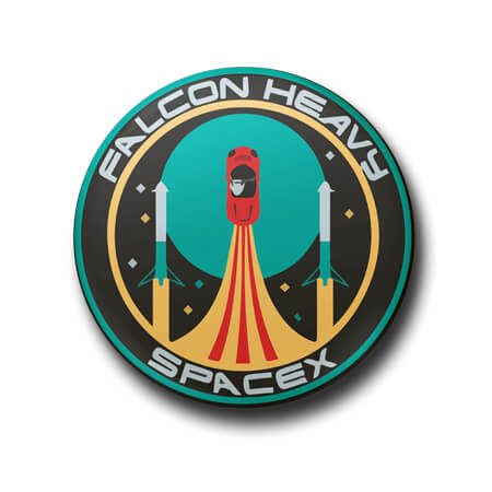 Space X Button Badge