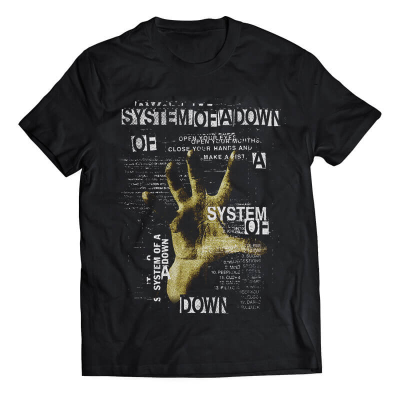 This System of a Down band tshirt is for all the fans of this metal band. Made of 100% pure soft cotton. Shipping all over India