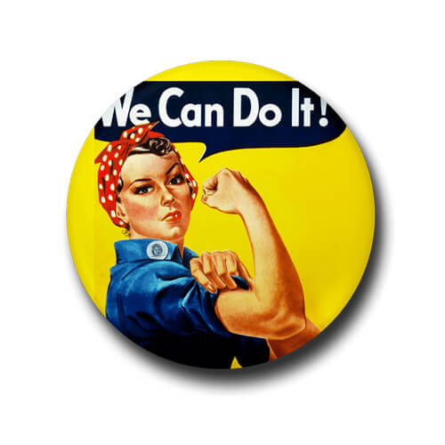 We Can Do It Button Badge