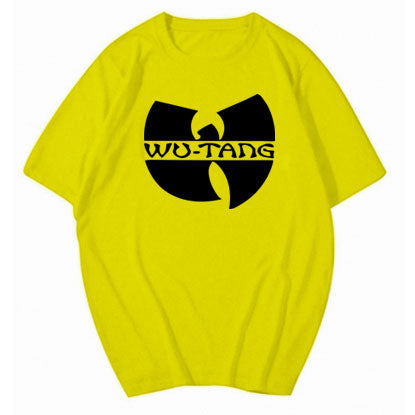 Wu Tang Clan Logo tshirt. Yellow solid cotton
