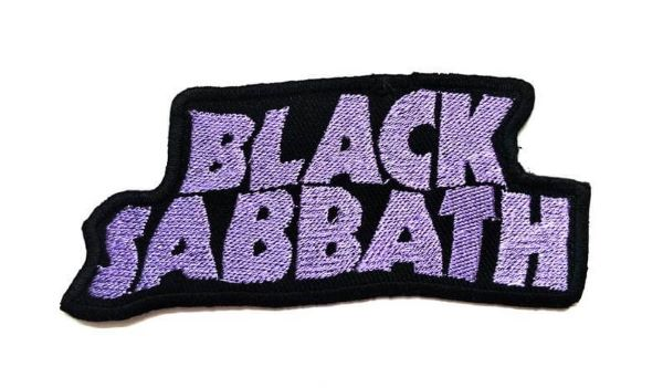 Black Sabbath Logo Embroidered Band  Patch
