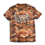 Lamb Of God - Logo Cammo  Band T-shirt
